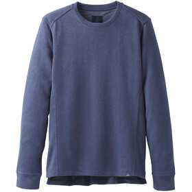 Prana M's Norcross Crew Fleece Pullover Equinox Blue Heather